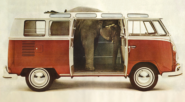 Die kreativste VW-Bulli-Werbung – Teil 1: Von Bohnen und Elefanten