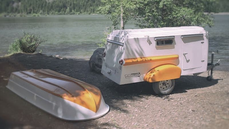 """Mit Caravan Und Ruderboot Verreisen? Die """"American Dream Trailer Company"""" Hat Die Lösung!"""