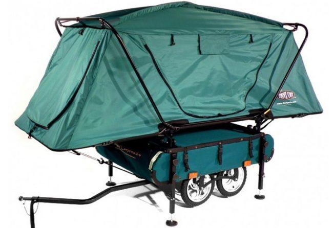bike camper die sch nsten mini mobile homes f r fahrradnomaden. Black Bedroom Furniture Sets. Home Design Ideas