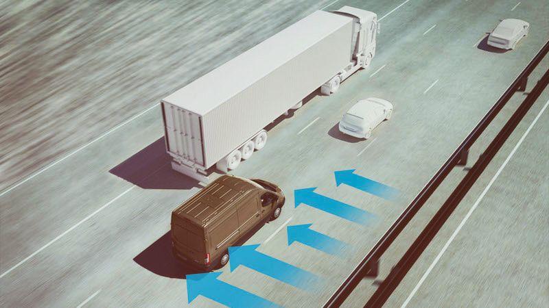 Ford-Transit: Seitenwind-Assistent Und Fußgänger-Erkennungssystem