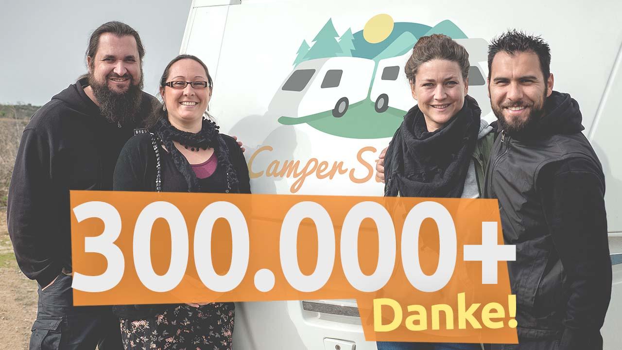 Dank an Leser und Partner: 300.000 monatliche Besucher bei CamperStyle (inkl. Gewinnspiel Caravan Salon!)