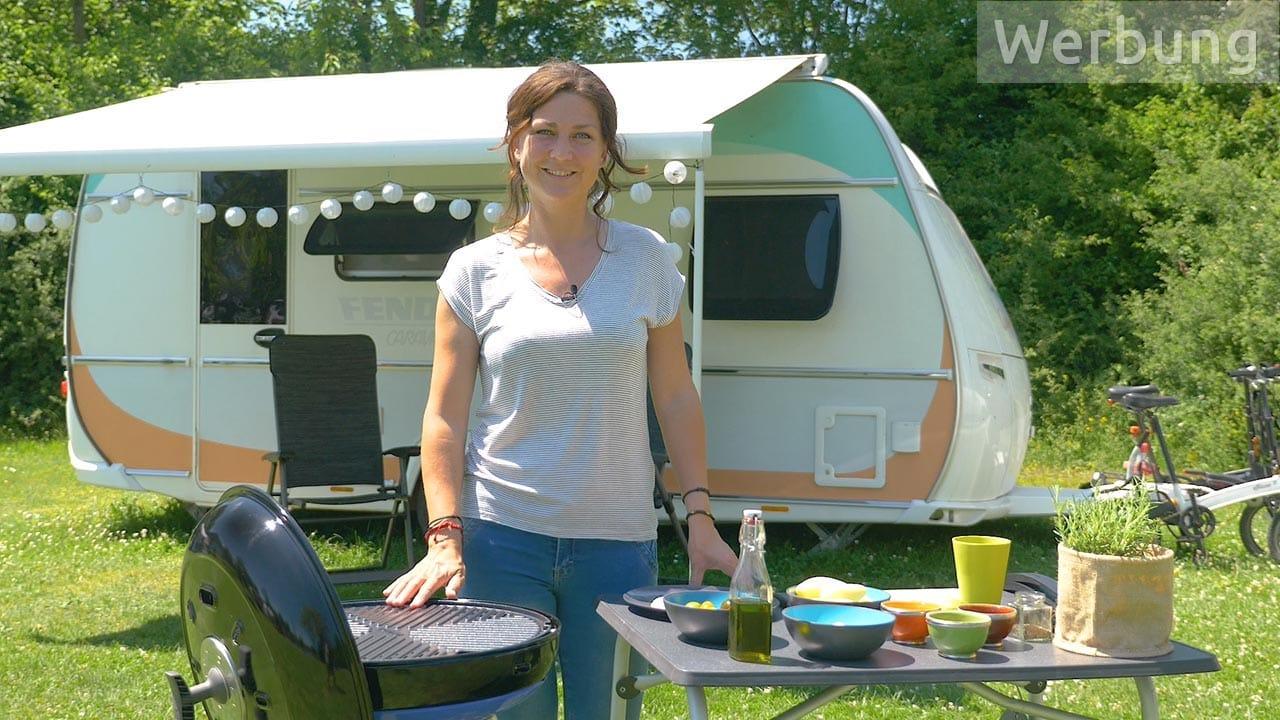 Camping-Rezept: Fisch vom Grill mit Kartoffeln